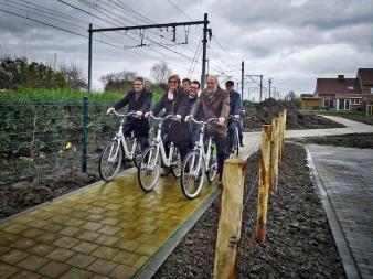 fietsdoorsteek opening