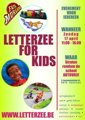 affiche letterzee 4 kids groen