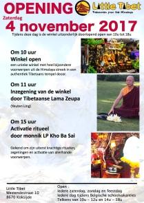 Flyer opening Little Tibet