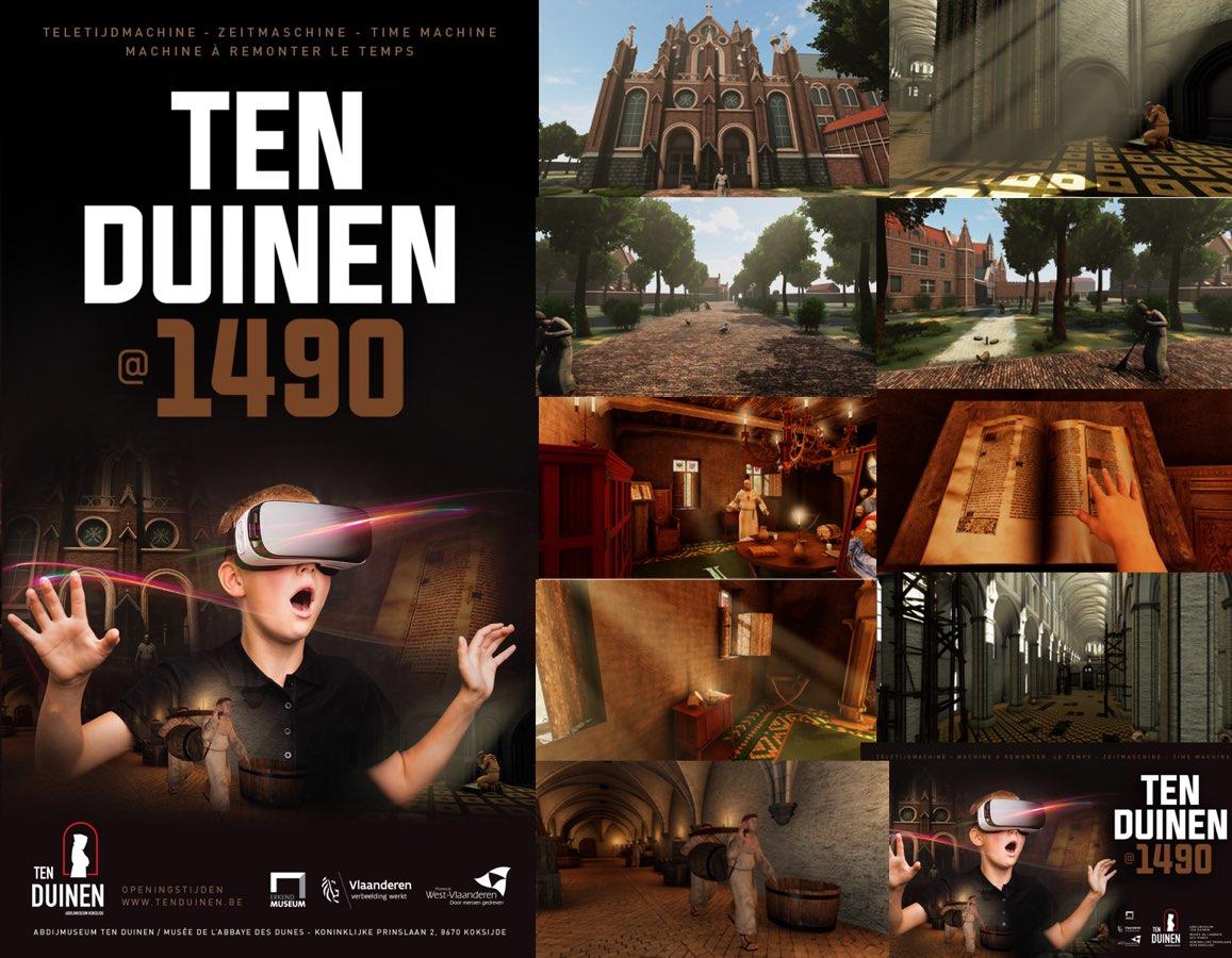Nieuwste Virtual Reality-technologieën doen de Duinenabdij uit 1490 herrijzen