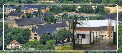 Luchtfoto asielcentrum Koksijde