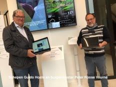 Schepen Guido Hoste en burgemeester Peter Roose Veurne